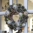 Lisa Angel Festive Natural Green Pinecone Christmas Wreath