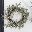 Lisa Angel Personalised Frosted Mistletoe Christmas Wreath