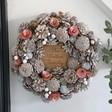 Lisa Angel Personalised Pink Pinecone Christmas Wreath