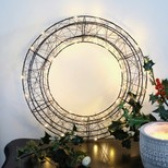 Black LED Wire Wreath Light Decoration