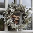 Lisa Angel Festive Frosted Personalised Faux Mistletoe Christmas Wreath
