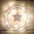 Lisa Angel Festive Personalised LED Wire Wreath Light Christmas Decoration