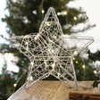 Lisa Angel Battery Powered Small Silver LED Wire Star Decoration