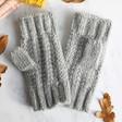 Lisa Angel Ladies' Chunky Grey Knit Hand Warmers