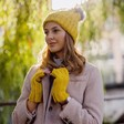 Lisa Angel Ladies' Mustard Knit Hand Warmers