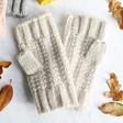 Lisa Angel Ladies' Oatmeal Knit Hand Warmers