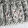 Lisa Angel Ladies' Grey Lisa Angel Ladies' Chunky Knit Embroidered Initials