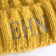 Lisa Angel Ladies' Mustard Lisa Angel Ladies' Chunky Knit Embroidered Initials