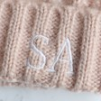 Lisa Angel Ladies' Pink Lisa Angel Ladies' Chunky Knit Embroidered Initials