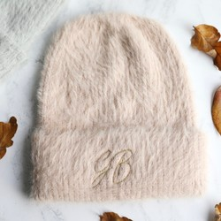55fd80462b4 Personalised Embroidered Initials Super Soft Beanie Hat