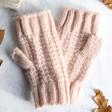 Lisa Angel Ladies' Pink Knit Hand Warmers