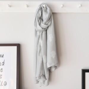 Hamsa Hand Scarf in Grey
