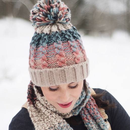 c68f3acfe32 Lisa Angel with Ladies  Powder Design Astrid Bobble Hat in Teal