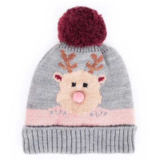 c0a50326d2e Powder Design Cosy Rudolph Bobble Hat in Grey