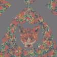 Lisa Angel with Ladies' Powder Design Fox Print Scarf