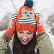 Lisa Angel with Ladies' Powder Design Teddy Bobble Hat in Orange