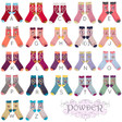 Lisa Angel with Ladies' Powder Design Initial Ankle Socks