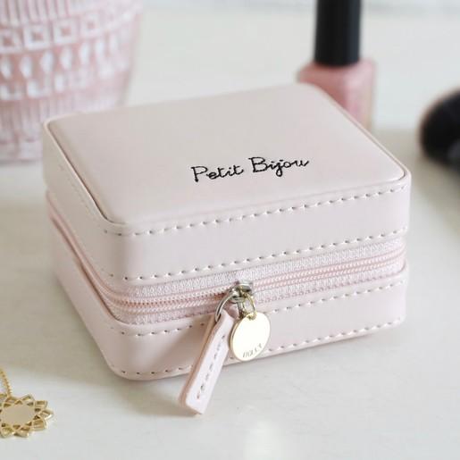 Personalised Mini Square Quote Travel Jewellery Box