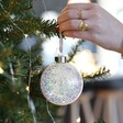 Lisa Angel Christmas Personalised Constellation Glitter Bauble