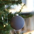 Lisa Angel Matt Grey Bauble