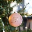 Personalised Matt Pink Bauble
