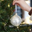 Silver Glitter Bauble - Lisa Angel