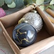 Lisa Angel Christmas Personalised Zodiac Glitter Bauble in Gold