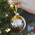 Lisa Angel Personalised Metallic Ombre Bauble