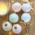 Lisa Angel Festive Set of 6 Colourful Marble Baubles