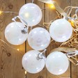 Lisa Angel Set of 6 Christmas Iridescent Pearl Baubles