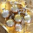 Lisa Angel Set of 6 Christmas Metallic Ombre Baubles