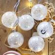 Lisa Angel Festive Set of 6 Silver Glitter Baubles