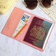 Lisa Angel Ladies' Passport Holder in Peach Pink