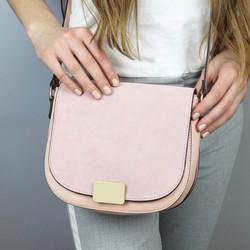 dda3be07457d Blush Pink Suede Crossbody Handbag