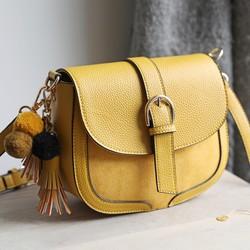 7adf16ed47c0 Mustard Vegan Leather Crossbody Handbag