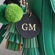 Ladies' Personalised Emerald Green Cross Body Handbag
