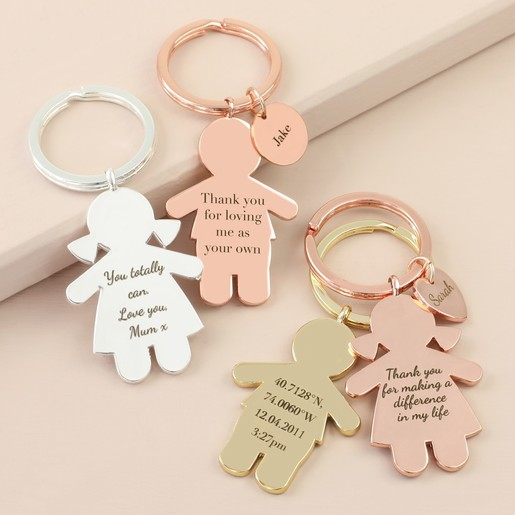 Personalised Message Family Character Keyring