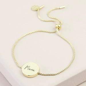 Box Chain and Disc Bracelet - Gold