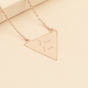 Large Triangle Necklace - Rose Gold