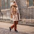 Personalised Winter Tassel Scarf on Model