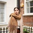 Ladies' Personalised Winter Tassel Scarf on Model
