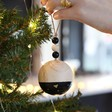 Lisa Angel Metallic Dipped Wooden Bauble in Black