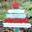 Lisa Angel Personalised 'Father Christmas Please Stop Here' Sign