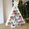 Lisa Angel Personalised Festive Wooden Advent Tree in Red and Green