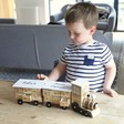 Children's Personalised Wooden Train Advent Calendar in White