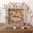 Lisa Angel Personalised Wooden Wreath Advent Calendar Light Box