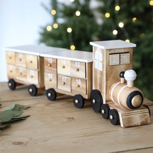 Wooden Train Fill Your Own  Advent Calendar in White