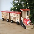 Lisa Angel Children's Personalised Wooden Train Advent Calendar in Red