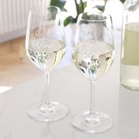 Set of Two His and Hers Wine Glasses