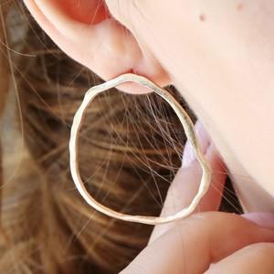 Irregular Hoop Statement Stud Earrings in Gold